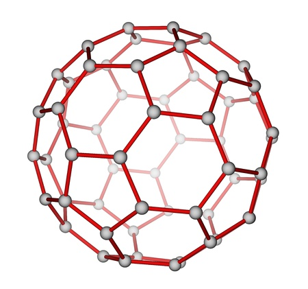 Fullerene C60 molecular structure photo