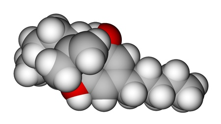 constituent: Cannabidiol molecule, the constituent of the cannabis plant