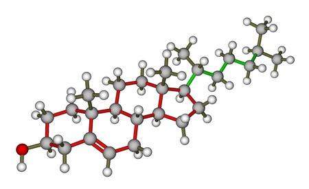 lipid: Cholesterol molecular structure Stock Photo