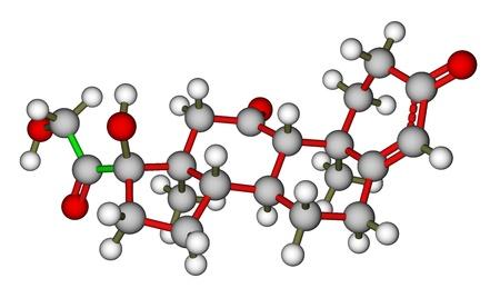 hormone: Hormone cortisone molecule Stock Photo