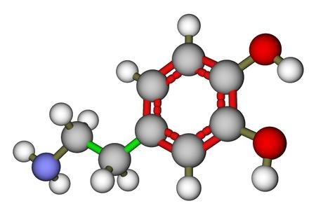tachycardia: Estructura molecular dopamina Foto de archivo