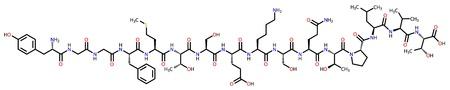 opioid: Alpha-endorphin structural formula