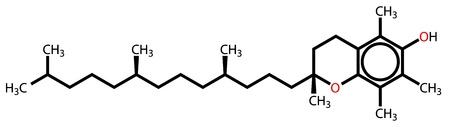 pharmaceutics: Alpha-tocopherol (vitamin E) structural formula