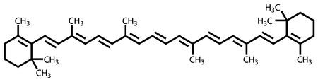 Beta-carotene (vitamin A) structural formula