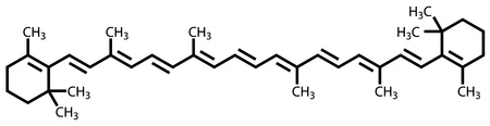 Beta-carotene (vitamin A) structural formula Stock Vector - 12415245