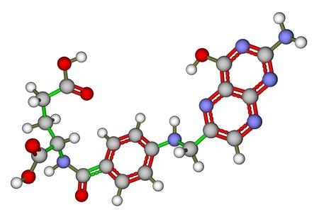 Folic acid (vitamin B9) molecular model photo