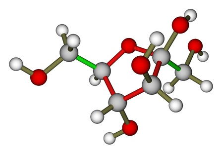 Fructose molecule photo