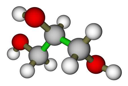 Glycerin (Glycerin) Molekül