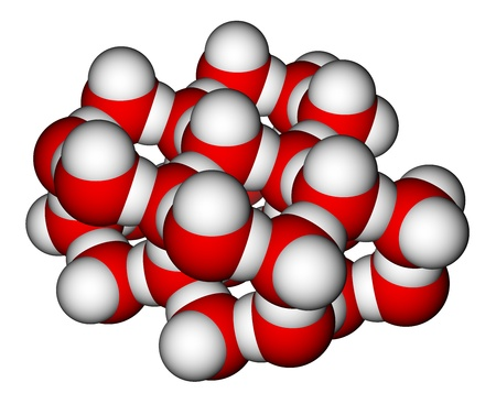 Fragment of water molecules packing in a crystal Stock Photo - 12416229