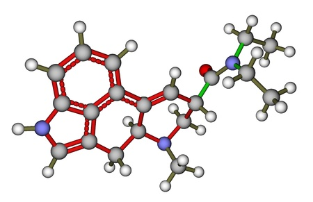 LSD molecule Stock Photo - 12416142