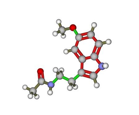 Melatonin molekulares Modell Lizenzfreie Bilder