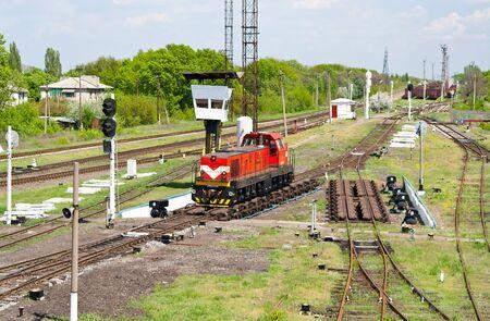 switcher: Shunter on a retarder of a hump yard in Ukraine