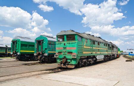 diesel locomotives: Diesel locomotives in the depot