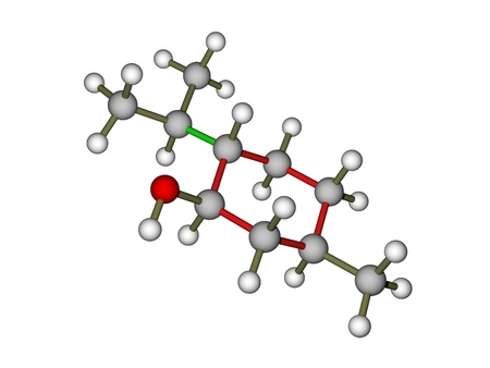 Menthol molecule 3D model Stock Photo - 12416070