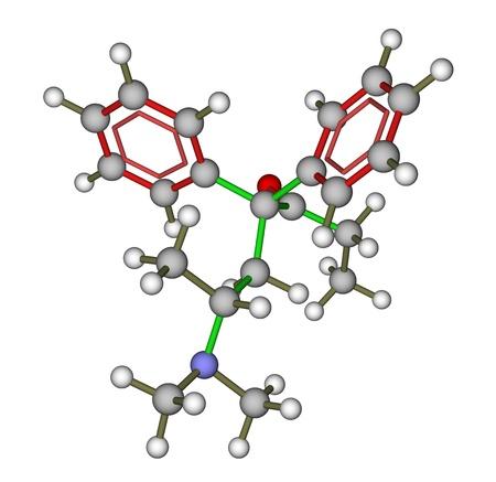 opioid: Methadone (synthetic opioid) molecular structure