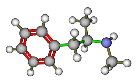 methamphetamine: Methamphetamine molecular model