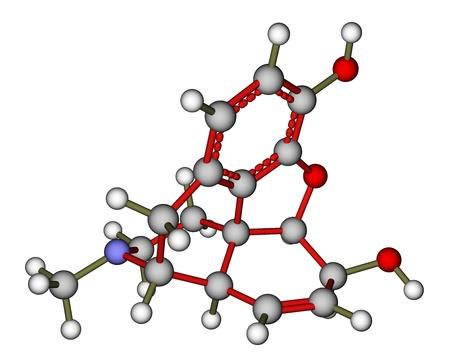 opioid: Morphine molecule