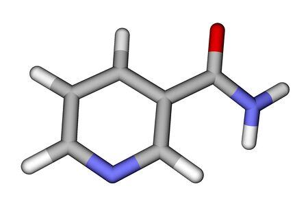 Vitamin nicotinamide 3D model Stock Photo - 12416076