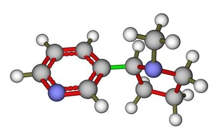 Nicotine molecular structure Stock Photo - 12416085