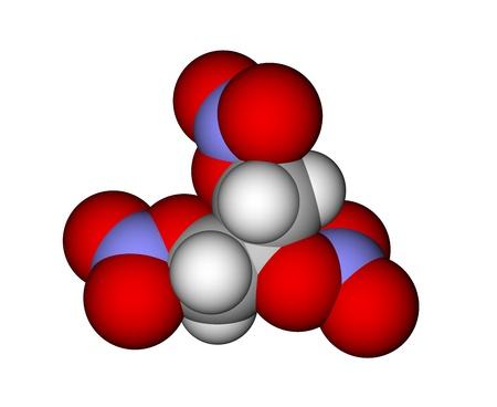 Trinitroglycerin molecule photo