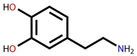 tachycardia: Dopamine structural formula