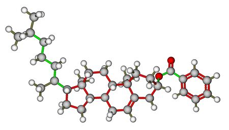 benzoic: Cholesteryl benzoate, a liquid crystal molecule