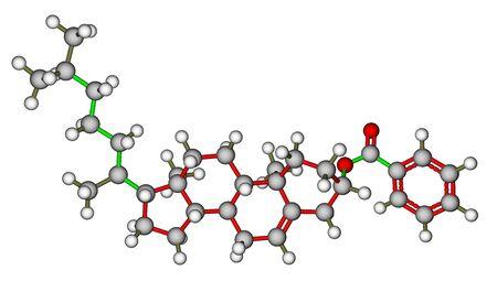 liquid crystal: Colesteril benzoato, una mol�cula de cristal l�quido