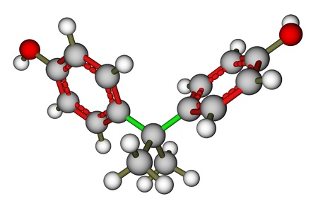 Optimized molecular structure of bisphenol A photo