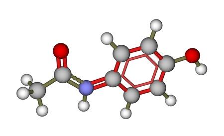 amide: Paracetamol (acetaminophen) molecular model Stock Photo