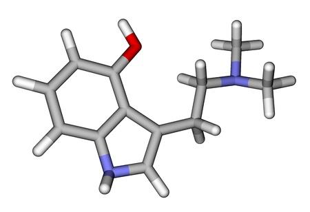 entheogen: Hallucinogen psilocin molecule Stock Photo