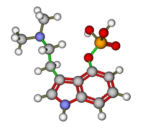 entheogen: Hallucinogen psilocybin molecular structure