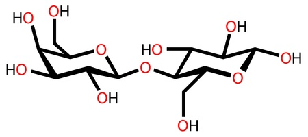 allergic reactions: Lactose (milk sugar) structural formula