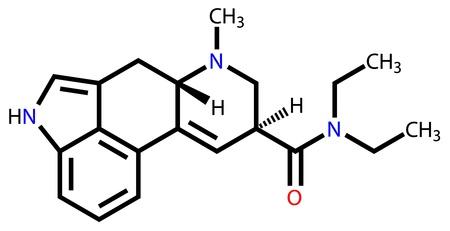 enlaces quimicos: El LSD f�rmula estructural