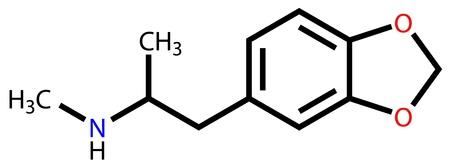 extase: MDMA (ecstasy) structuurformule Stock Illustratie