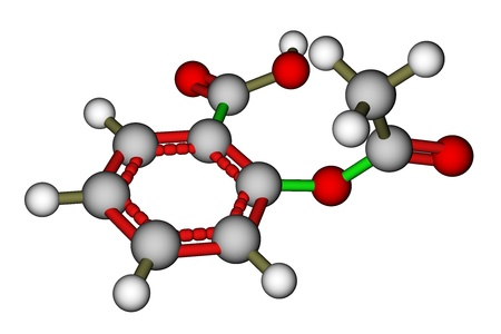 structural formula: Aspirin molecular structure