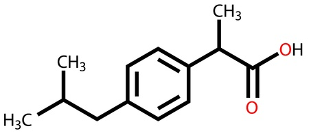 Ibuprofen structural formula Stock Vector - 12416379