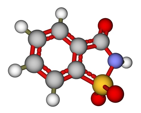 sugar metabolism: Sweetener saccharin 3D model
