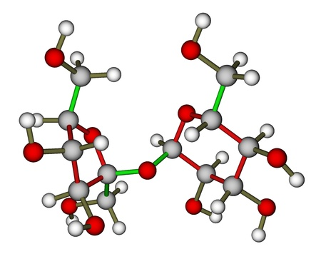 Sucrose molecular structure photo