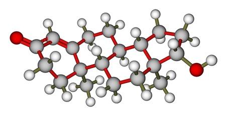 Männliche Hormon Testosteron 3D-Molekül