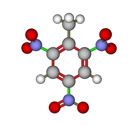 Explosive 2,4,6-trinitrotoluene (TNT) molecule photo