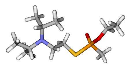 Nerve agent VZ (chemical weapon) molecule photo