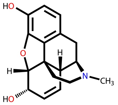 narcotics: Morphine structural formula