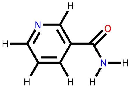 model fish: Vitamin nicotinamide structural formula