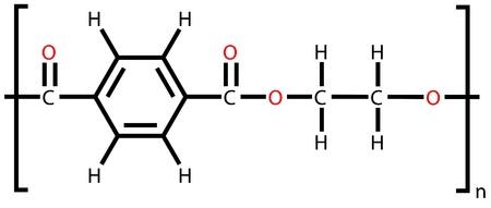 poliester: Tereftalato de polietileno (poli�ster, PET), la f�rmula estructural