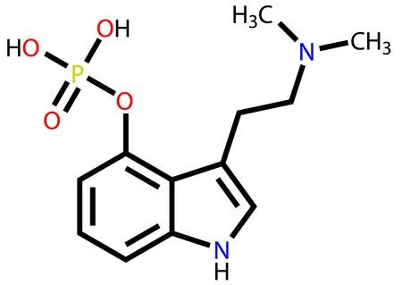 entheogen: Hallucinogen psilocybin structural formula Illustration