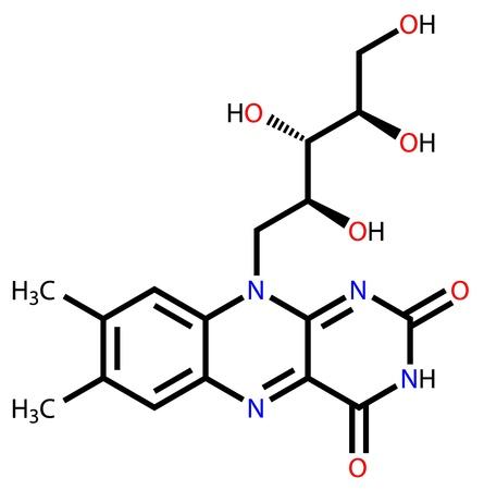 b cell: Structural formula of riboflavin (vitamin B2) Illustration