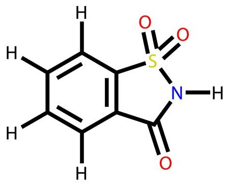 Structural formula of sweetener saccharin