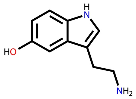 Structural formula of serotonin
