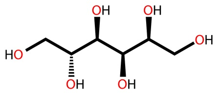 sweetener: Structural formula of sweetener sorbitol