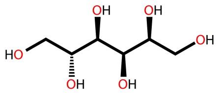 sugar metabolism: Structural formula of sweetener sorbitol